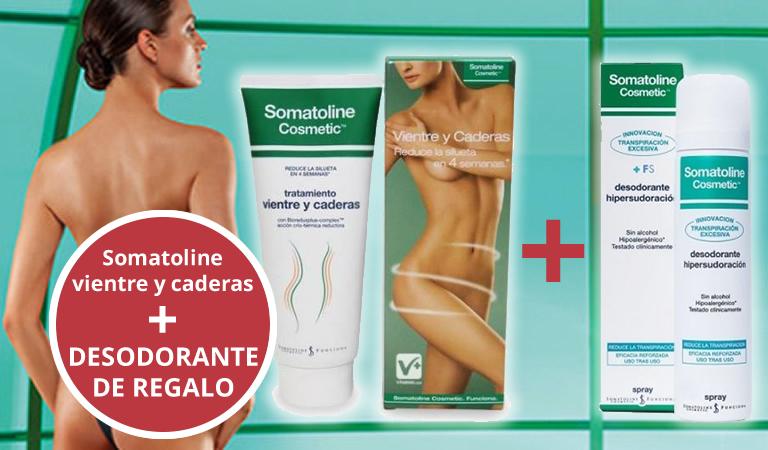 Somatoline vientre y caderas (+ regalo desodorante somatoline)